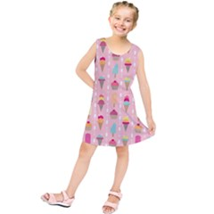 Ice Cream and Cupcake Sweet Tooth Pattern Kids  Tunic Dress
