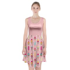 Ice Cream and Cupcake Sweet Tooth Pattern A Racerback Midi Dress