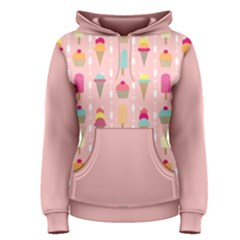 Ice Cream and Cupcake Sweet Tooth Pattern Women s Pullover Hoodie