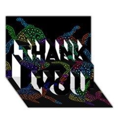 Decorative fish THANK YOU 3D Greeting Card (7x5)