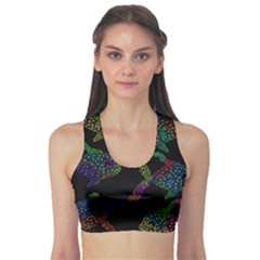 Decorative fish Sports Bra