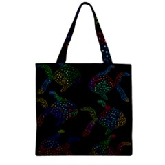 Decorative fish Zipper Grocery Tote Bag