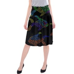 Decorative fish Midi Beach Skirt