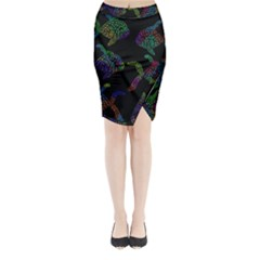 Decorative fish Midi Wrap Pencil Skirt