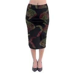 Decorative fish pattern Midi Pencil Skirt