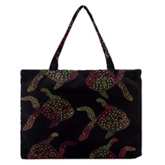 Decorative fish pattern Medium Zipper Tote Bag