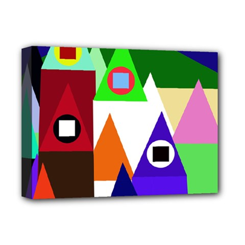 Colorful houses  Deluxe Canvas 16  x 12