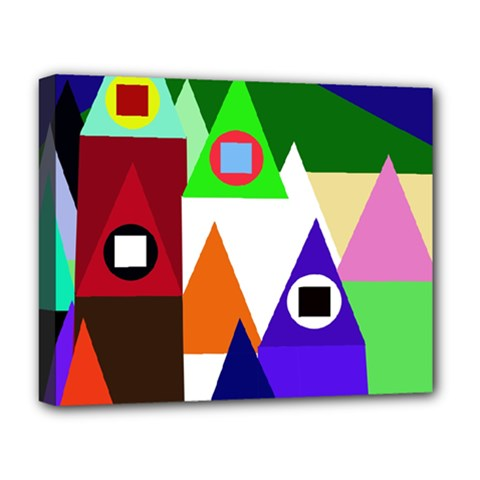 Colorful houses  Deluxe Canvas 20  x 16