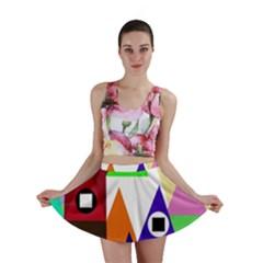 Colorful houses  Mini Skirt