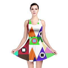 Colorful houses  Reversible Skater Dress