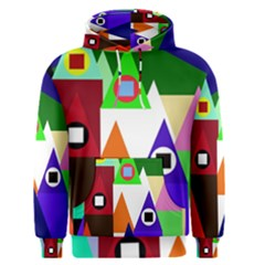 Colorful houses  Men s Pullover Hoodie