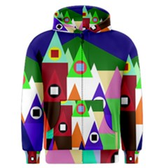 Colorful houses  Men s Zipper Hoodie