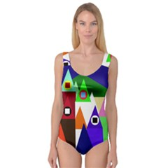 Colorful houses  Princess Tank Leotard