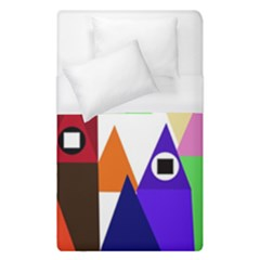 Colorful Houses  Duvet Cover (single Size)