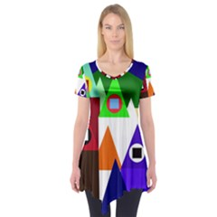 Colorful houses  Short Sleeve Tunic