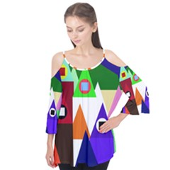 Colorful Houses  Flutter Tees
