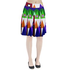 Colorful Houses  Pleated Skirt