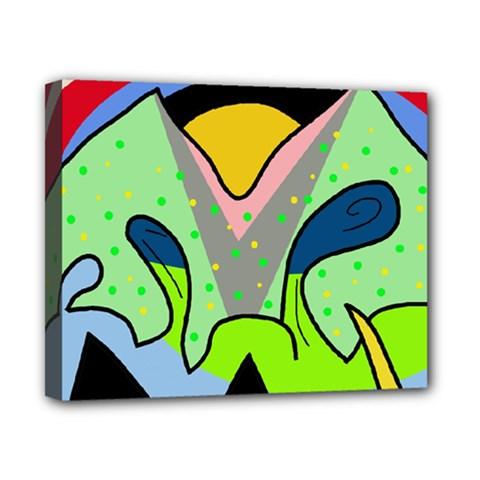 Colorful landscape Canvas 10  x 8
