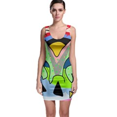 Colorful landscape Sleeveless Bodycon Dress