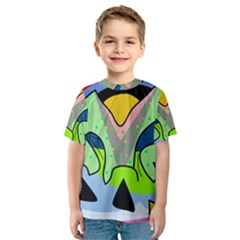 Colorful landscape Kids  Sport Mesh Tee