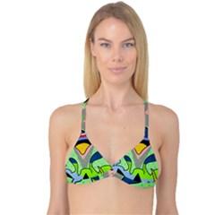 Colorful landscape Reversible Tri Bikini Top