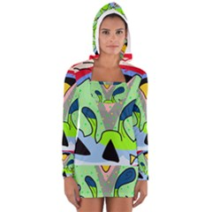 Colorful Landscape Women s Long Sleeve Hooded T Shirt