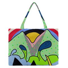 Colorful landscape Medium Zipper Tote Bag