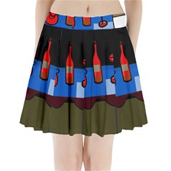 Table Pleated Mini Skirt