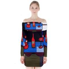 Table Long Sleeve Off Shoulder Dress