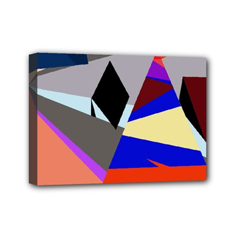 Geometrical abstract design Mini Canvas 7  x 5