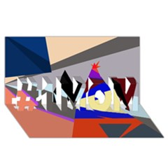 Geometrical abstract design #1 MOM 3D Greeting Cards (8x4)