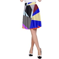 Geometrical abstract design A-Line Skirt