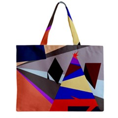 Geometrical abstract design Zipper Mini Tote Bag
