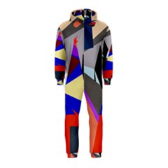 Geometrical abstract design Hooded Jumpsuit (Kids)
