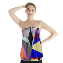 Geometrical abstract design Strapless Top