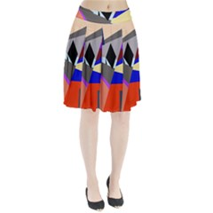 Geometrical abstract design Pleated Skirt