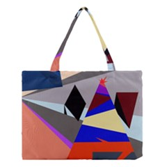 Geometrical Abstract Design Medium Tote Bag