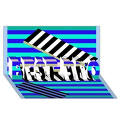 Blue lines decor BEST BRO 3D Greeting Card (8x4)