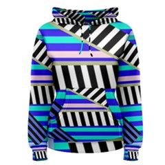 Blue lines decor Women s Pullover Hoodie