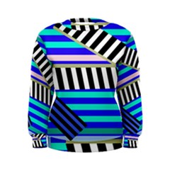 Blue lines decor Women s Sweatshirt