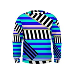 Blue lines decor Kids  Sweatshirt