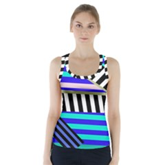Blue Lines Decor Racer Back Sports Top