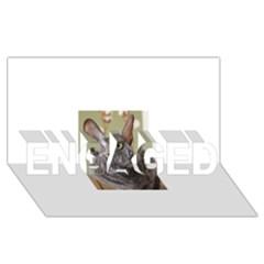 Cornish Rex, Blue ENGAGED 3D Greeting Card (8x4)