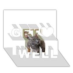 Cornish Rex, Blue Get Well 3D Greeting Card (7x5)