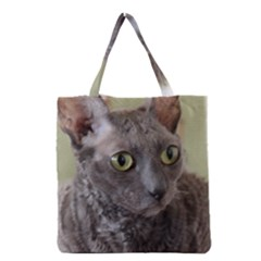 Cornish Rex, Blue Grocery Tote Bag