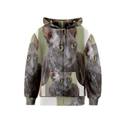 Cornish Rex, Blue Kids  Zipper Hoodie