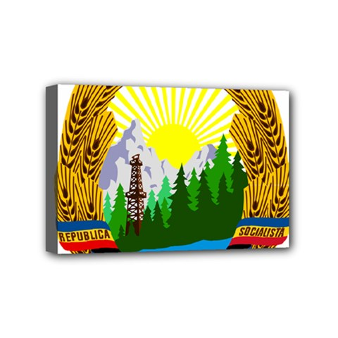 National Emblem Of Romania, 1965 1989  Mini Canvas 6  X 4