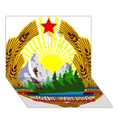 National Emblem Of Romania, 1965 1989  Apple 3d Greeting Card (7x5)