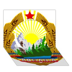 National Emblem Of Romania, 1965 1989  Circle 3d Greeting Card (7x5)
