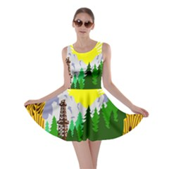 National Emblem Of Romania, 1965 1989  Skater Dress